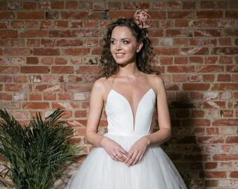 8edc7e05211 bridal bodysuit - deep scoop - tight fitting velvet top - wedding bodysuit  - bridal top - wedding separates - wedding two piece dress