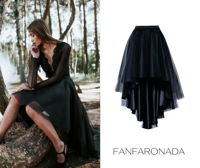 7aba403899a Asymmetric circle skirt short front long back skirt tulle