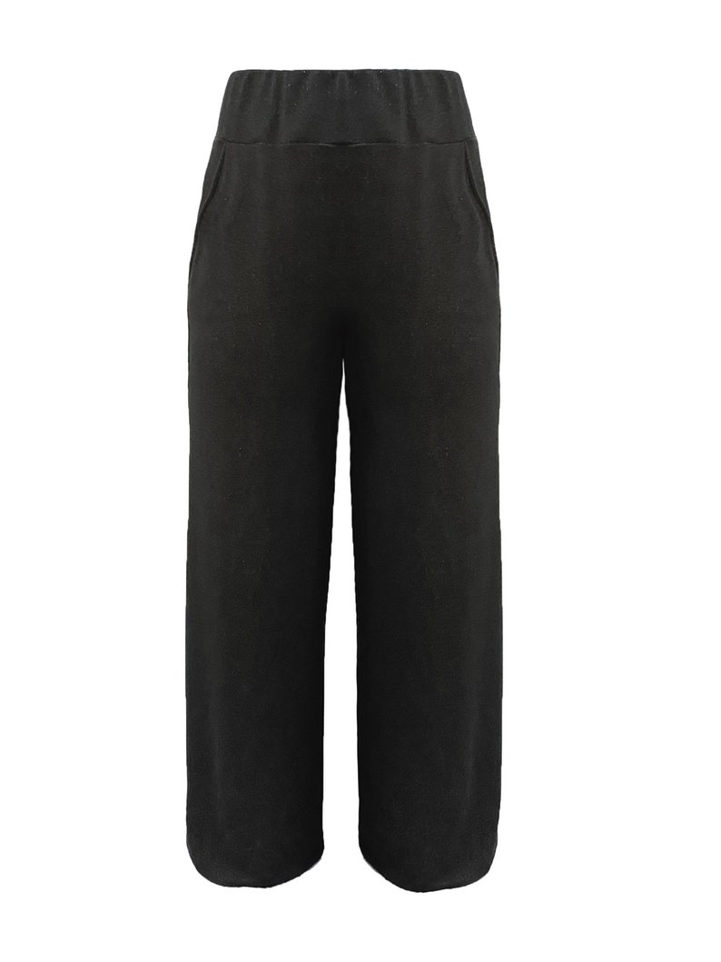 Wide leg grey sweatpants