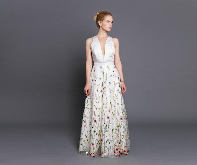 466c226aa232 Maxi Floral wedding skirt bridal separates lace maxi skirt | Etsy