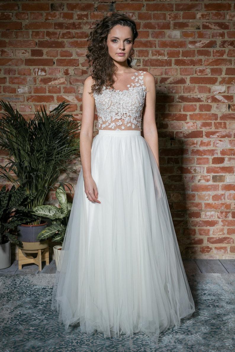 tight fitting lace top wedding separates Lace wedding bodysuit romantic lace blouse bridal top wedding bodysuit