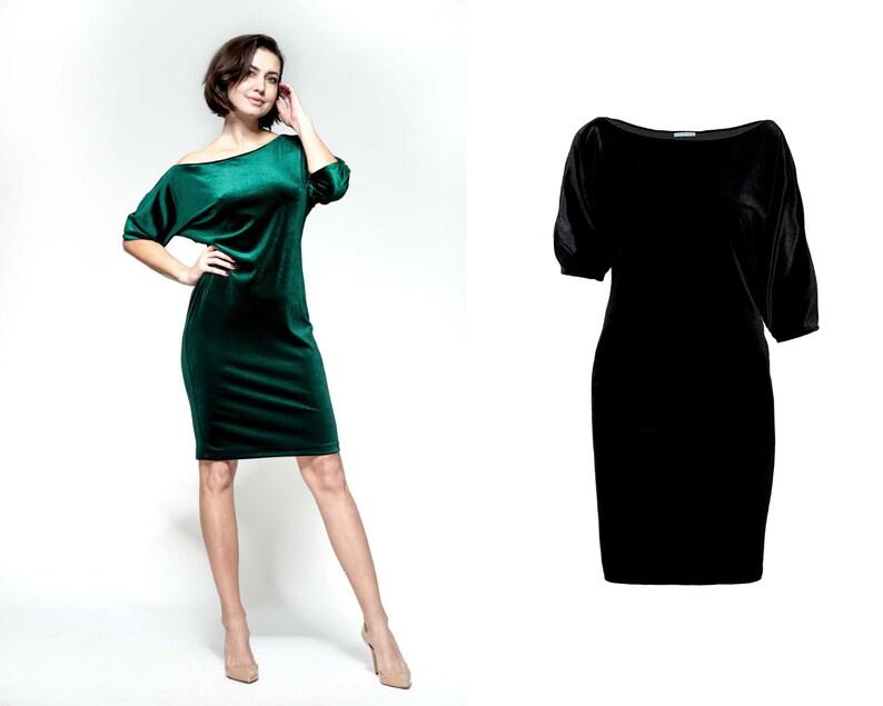 33f9ca81aff0 Velvet dress little black dress loose dress casual dress