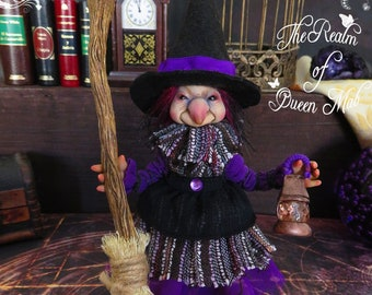 Ooak art Doll. Witch - Maggie . Poseable doll.