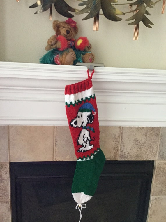 Hand Knitted  BEAGLE Christmas Stocking
