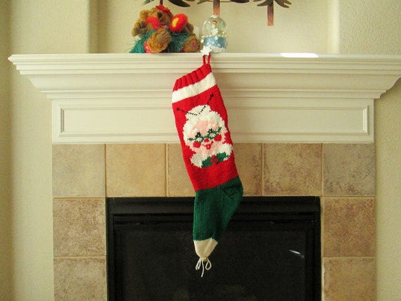 Personalized Hand-Knitted MRS. CLAUS Christmas Stocking