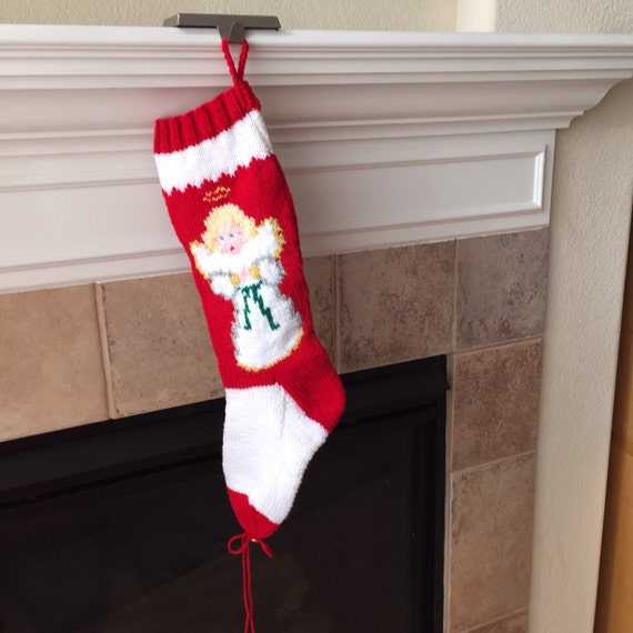 Personalized Hand-Knitted ANGEL Christmas Stocking