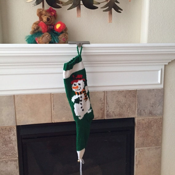 Personalized Hand-Knitted MR. SNOWMAN Stocking