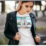 Tiffany Women's Tee, Tiffany Fashionable Tee, Fashionable Accessories, Stylish T-Shirt for Her, White Shirt, Lana's Artwork Printed Tee