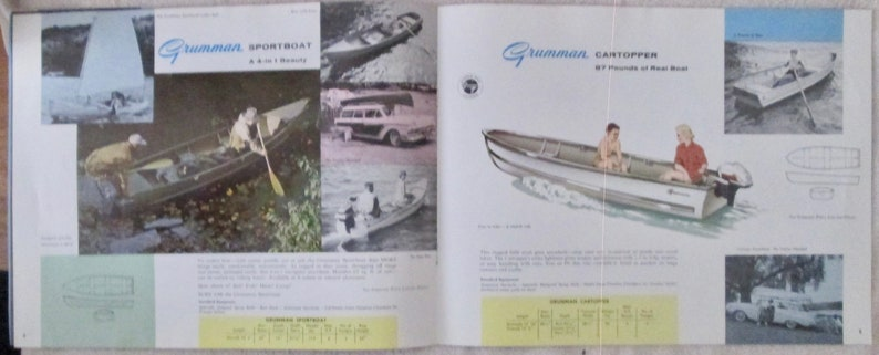 Scarce Grumman Boats & Canoes 1960 catalog