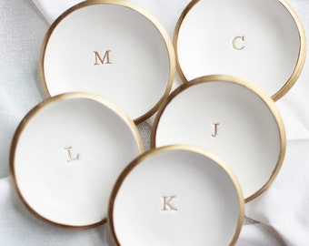 Personalized Ring Dish / Bridesmaids Jewelry Dish / Monogrammed Ring Holder / Bridesmaids Gifts / Bridal Party Gifts / Bridal Shower Gifts