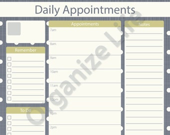 appointment planner etsy