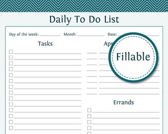 daily appointment planner printable pdf instant download etsy