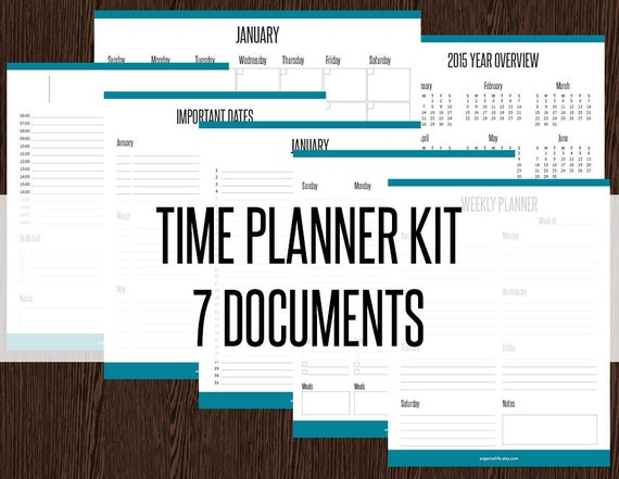 time planner kit fillable appointment planners calendars