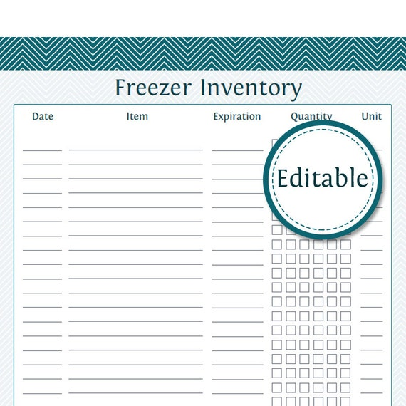 Impeccable image with freezer inventory printable