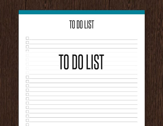 to do list fillable general full page to do list etsy