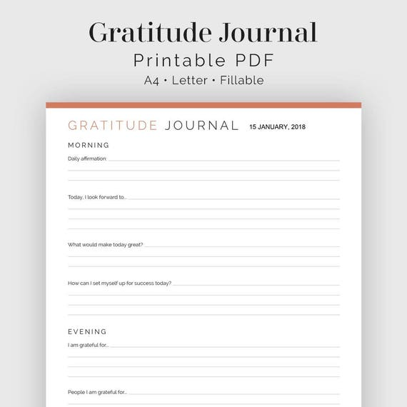 Universal image regarding gratitude journal printable