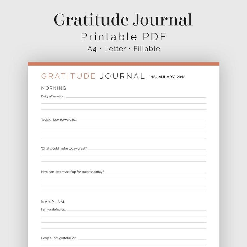 Ambitious image within printable gratitude journal