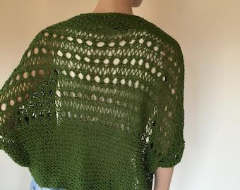Olive green knitted bolero