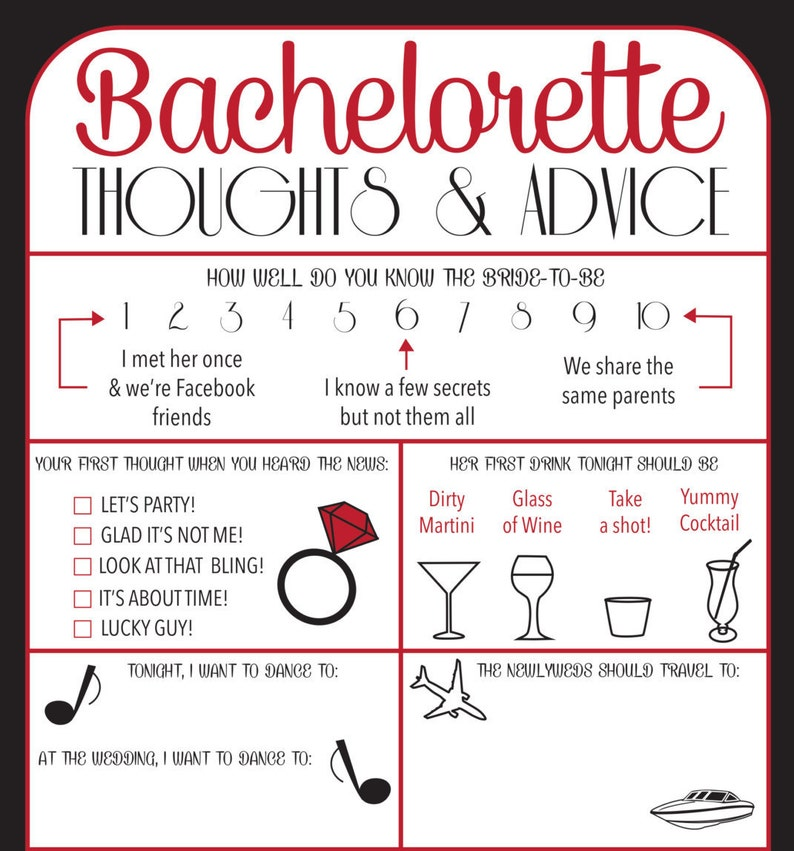 Bachelorette Party Game for the Lingerie Shower Advice for the Bride to Be