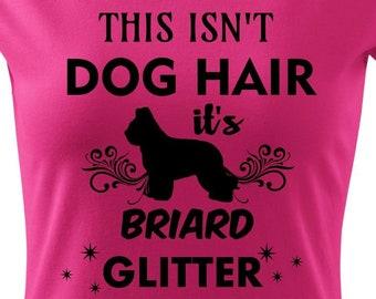 Briard / Berger De Brie glitter T-shirt