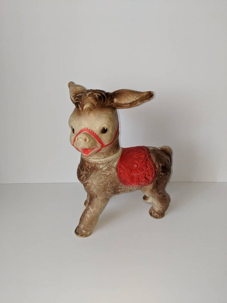 Donkey Squeak Sun Rubber Toys Collectible Squeak Toys Retro Squeaks  Mid-century Modern Toys Kitschy Animals Plastic Toys Farm Animals