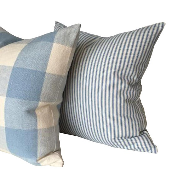 Farmhouse Waverly Pillows Gingham Check