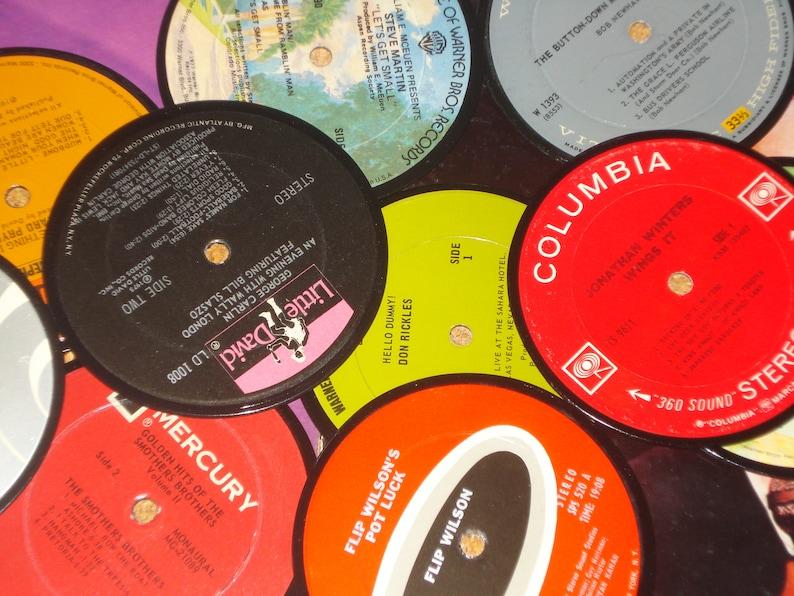 Comedy Album Coasters Comedy Legends vinyl record coaster image 0