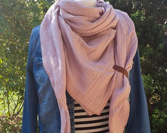 XXL Scarf 17 Colors MUSELIN Cotton Color Choice Muslin Scarf Women large