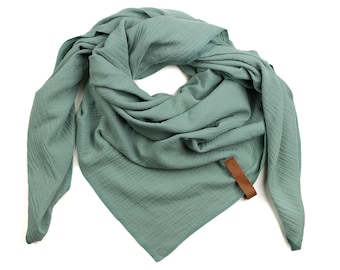 XXL Neck scarf MUSSELIN cotton color choice muslincloth ladies large