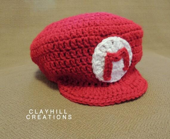 Crochet Mario Hat Mario Cap Mario Kart Super Mario Cap Etsy