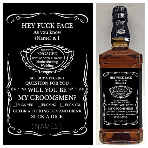 Funny Jack Daniel\'s Inspired Whiskey Label Will you be | Etsy