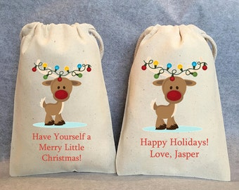 10 christmas bags christmas favor bags christmas gift bag christmas treat bag christmas party favor bag christmas gift 4x6