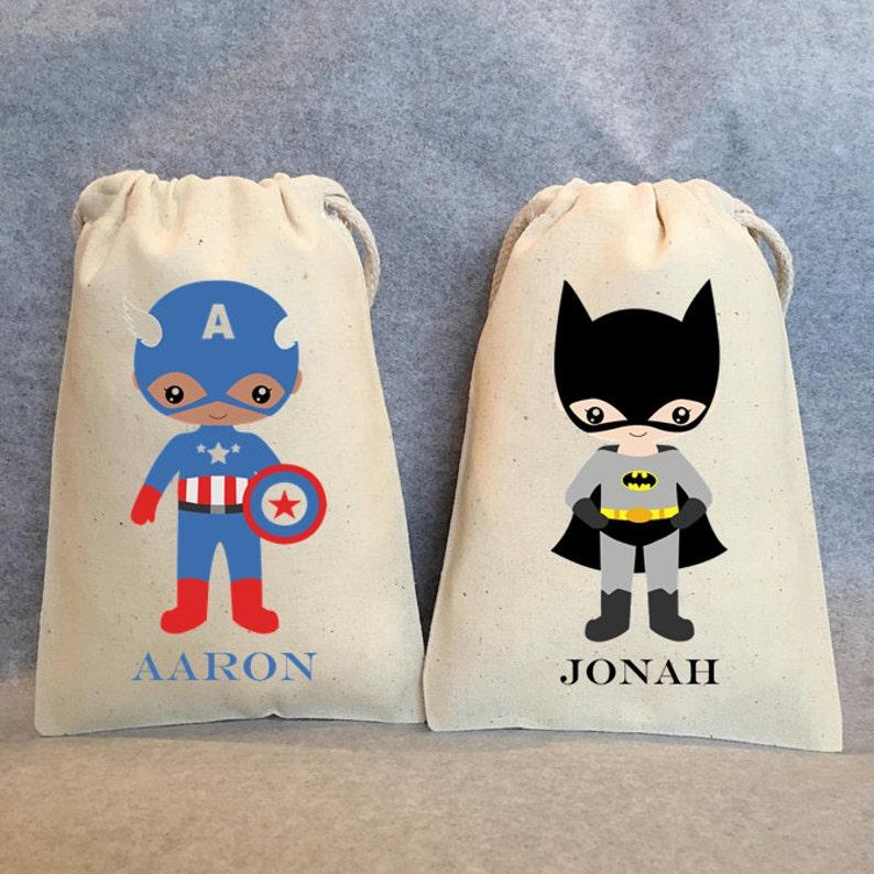 4x6 Superhero Birthday Superheroes Batman Party Superhero Party Favor Bags Superman 13-  Superhero party Superhero favors Robin
