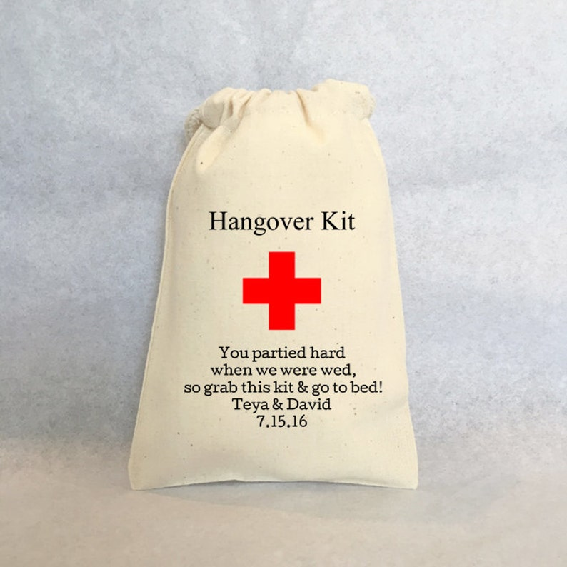 Personalized wedding favors- wedding favor bags Hangover Kit set of 20 bags Wedding guest favor bags wedding favors 4x6