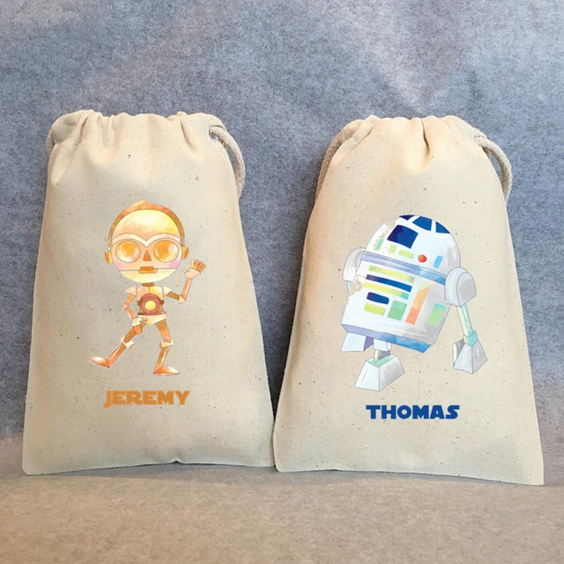 16 Star Wars Party Star Wars party Favor Bags,Star Wars favors 5x7