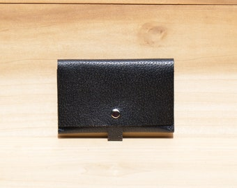 Leather Passport Cover, Passport Wallet, Passport Case in Black Italian Saffiano Leather, Leather Passport Holder for her, Travel Accessory
