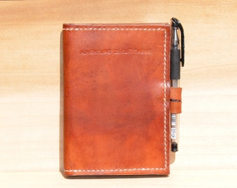 Double Passport Wallet, Handcrafted Passport Holder, Leather Passport/Notebook Case, Personalized Travel Accessory