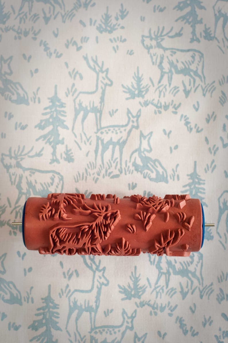No. 6 Patterned Paint Roller from The Painted House. #stencils #stenciledwall #paint