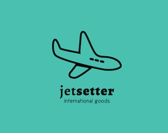 Logo INSTANT DOWNLOAD Jetsetter Logo // DIY Business Cards and Stationary //  *****Adobe Illustrator and Photoshop File*****