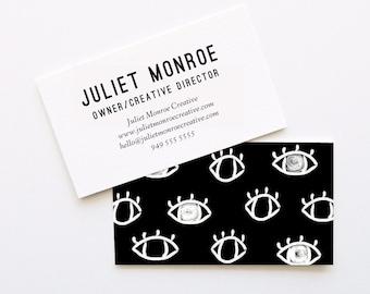 Eyes business card etsy eyes on the prize business cards diy business cards printable business cards reheart Choice Image
