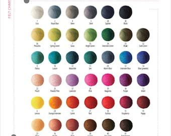 10 pieces x 1,5cm FELT BALLS beads 1,5cm 15mm (0,6 inch)