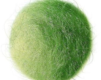 FELT BALL #35 light green; sizes: 1cm, 1,5cm; 2cm, 3cm, 3,5cm, 4cm, 5cm ....
