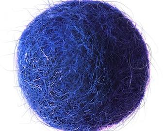 FELT BALL #14. blue [powder]; sizes: 1cm, 1,5cm; 2cm, 3cm, 3,5cm, 4cm, 5cm, 6cm