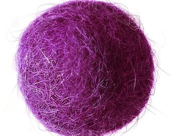 FELT BALL #38 purple; sizes: 1cm, 1,5cm; 2cm, 3cm, 3,5cm, 4cm, 5cm ....