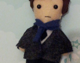 Fanmade Sherlock Holmes felt plush doll (MADE TO ORDER)