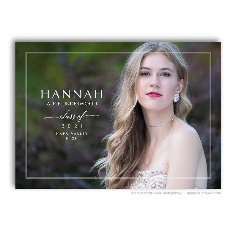 Senior Graduation Card Template  For Photographers  image 0