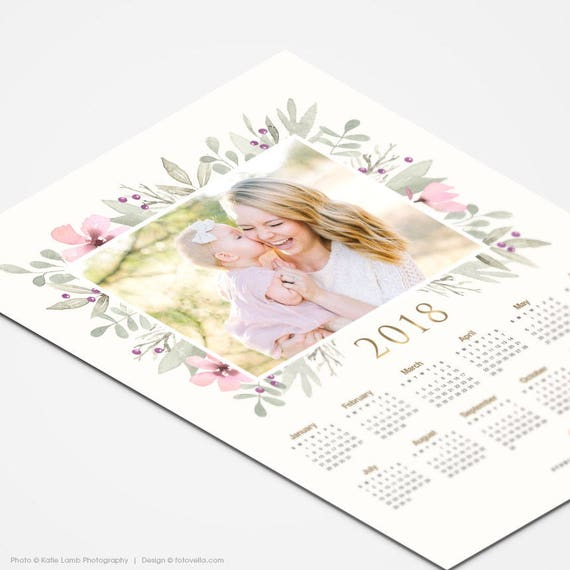 2018 Kalender 2019 Vorlage 8 X 10 Foto Kalender Etsy