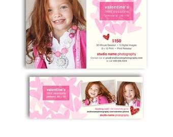 Valentine's Day Mini Session Marketing - Mini Promo Kit - 1219