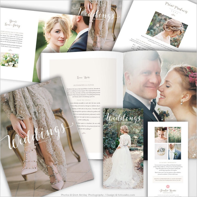 Wedding Photographer Marketing Set with Studio Welcome Guide image 0