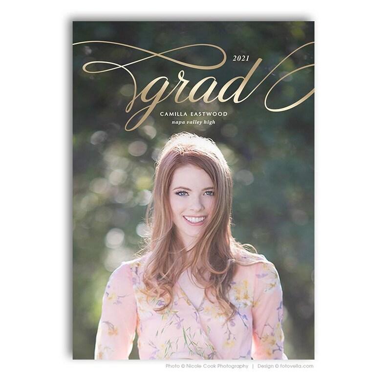 Senior Graduation Card Template  Senior Open House image 0